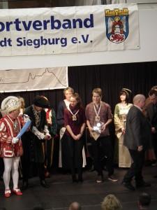 Die Auszeichnung zum Sportler des Jahres wurde vom Siegburger Karnevalsprinzen verliehen