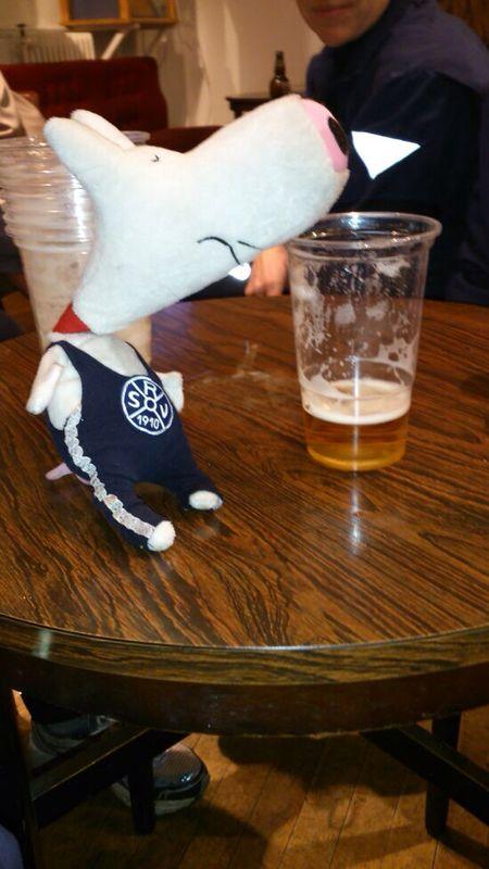 Der Schweinehund lässt sich gut mit Bier beruhigen