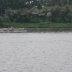 Kurz vor der Ziellinie Patrik (weißes Boot) Heiner (gelbes Boot)