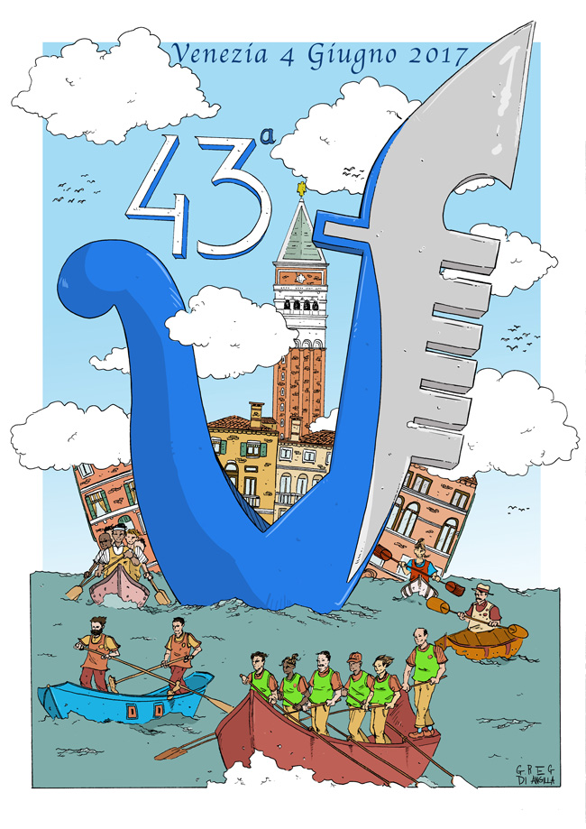 Plakat der 43. Vogalonga in Venedig