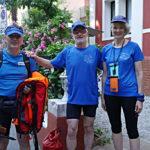 Felicia-, Boris Scharenberg und Achim Weiffen vertreten den Siegburger Ruderverein auf der Vogalonga in Venedig.