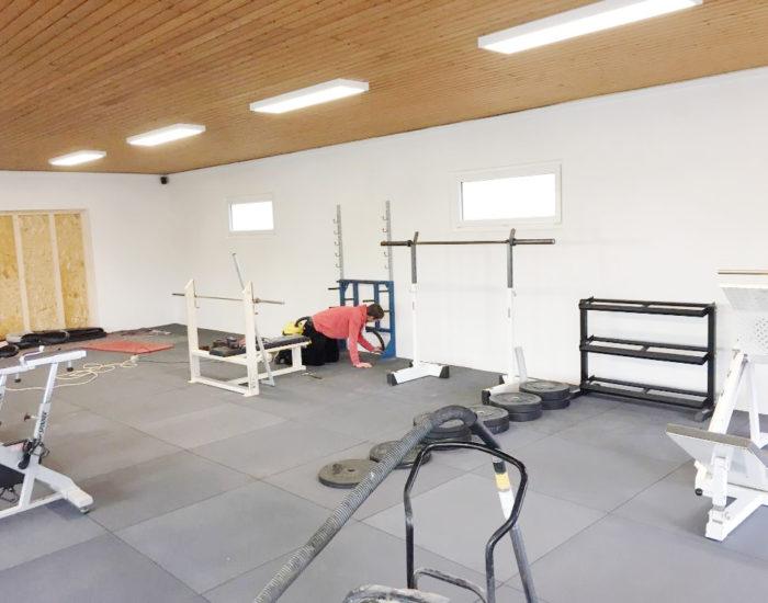 Bau der Fitnesshalle